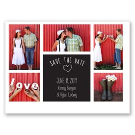 Modern Save The Dates: Photo Love  Save the Date Card