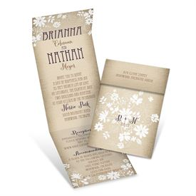 Wedding Invitations With Online Reply: Country Charm  Invitation with Online Reply