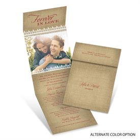 Burlap Love - Invitation with Online Reply
