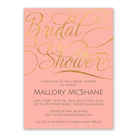 Gold Beauty Bridal Shower Invitation