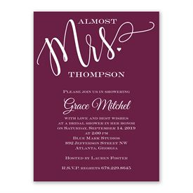 Almost Mrs. Bridal Shower Invitation