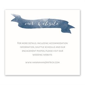 Wedding Reception Cards: Watercolor Whimsy Information Card