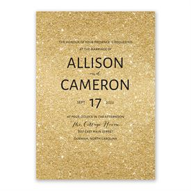 Glitter Illusion Invitation with Free Response Postcard