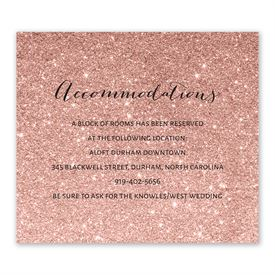 Glitter Illusion - Rose Gold - Information Card