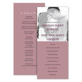 Wedding Programs: Photo Screen Wedding Program