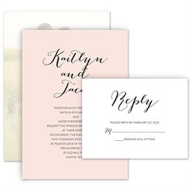 Elegant Wedding Invitations: Minimalist Beauty Invitation with Free Respond Postcard