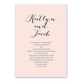 Minimalist Beauty Invitation with Free Respond Postcard