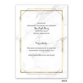 Marble Frame - Invitation with Free Response Postcard