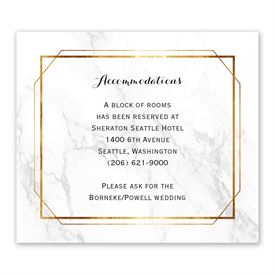 Wedding Reception Cards: Marble Frame Information Card