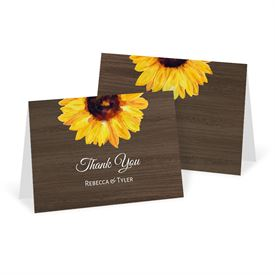 Wedding Thank You Cards: Country Sunflowers Thank You Card