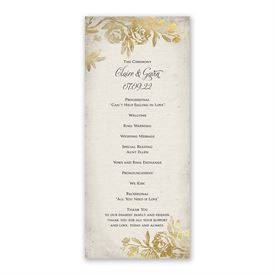 Rustic Glam Wedding Program