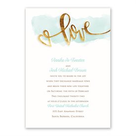Watercolor Love Invitation with Free Response Postcard