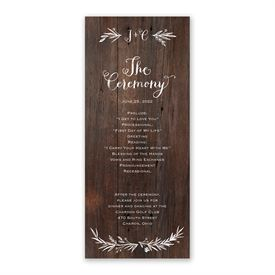 Ever After Wedding Program