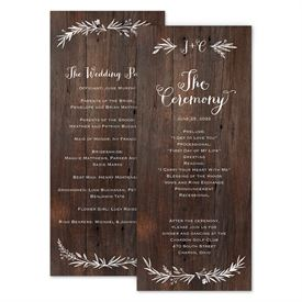 Wedding Programs: Ever After Wedding Program