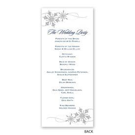 Snowflake Sparkle - Wedding Program