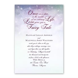 Our Fairy Tale Invitation with Free Response Postcard