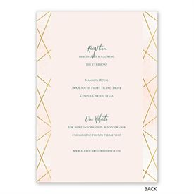 Modern Chic - Invitation with Free Response Postcard
