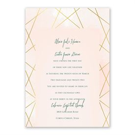 Modern Chic Invitation with Free Response Postcard