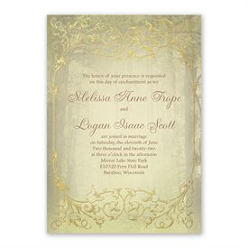 Woodland Fairy Tale Invitation with Free Response Postcard