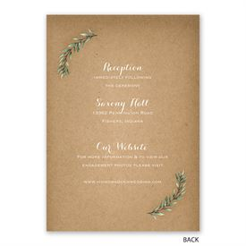 Country Boho - Invitation with Free Response Postcard