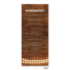 Brilliant Lights - Wedding Program