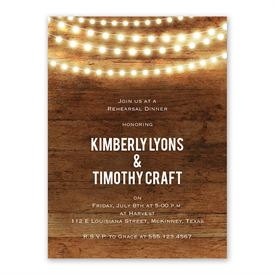 Brilliant Lights Rehearsal Dinner Invitation
