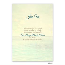 Beach Life - Invitation with Free Response Postcard