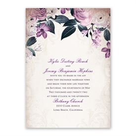 Victorian Floral Invitation with Free Response Postcard
