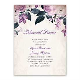 Victorian Floral Rehearsal Dinner Invitation