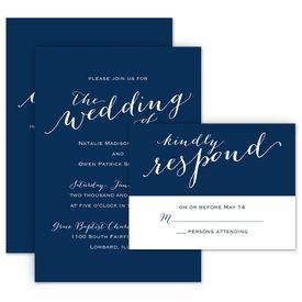 Wedding Invitations: Keep it Simple Invitation with Free Response Postcard