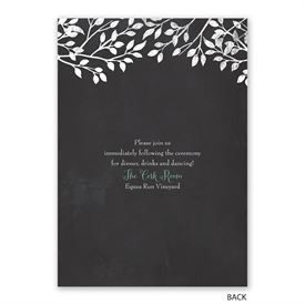 Chalkboard Lovebirds - Invitation with Free Response Postcard