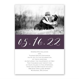 Pure Portrait Invitation with Free Response Postcard