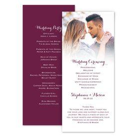 Wedding Programs: Sweet and Simple Wedding Program