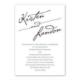 Elegant Script Invitation with Free Response Postcard