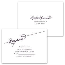 Elegant Script - Invitation with Free Response Postcard