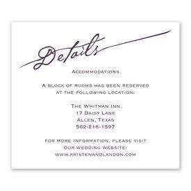 Wedding Reception Cards: Elegant Script Information Card