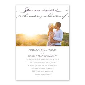 Simple Elegance Invitation with Free Response Postcard