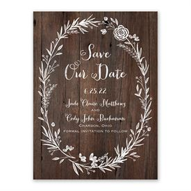 Rustic Save The Dates: Ever After Save The Date