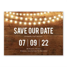 Brilliant Lights Save The Date