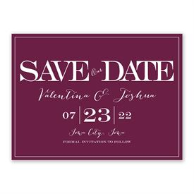 Save the Dates: Our Big Date Save The Date