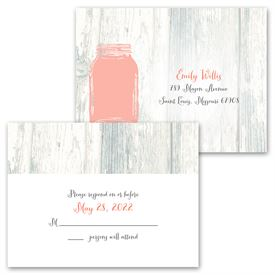 Brimming with Love - Invitation with Free Response Postcard