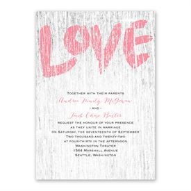 Painted Love Invitation with Free Response Postcard