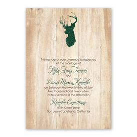 Rustic Appeal Invitation with Free Response Postcard