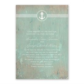 Anchored by Love Invitation with Free Response Postcard