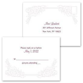 Modern Scrollwork - Invitation with Free Response Postcard