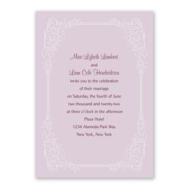 Modern Scrollwork Invitation with Free Response Postcard