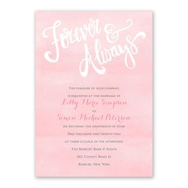Forever And Always Invitation with Free Response Postcard