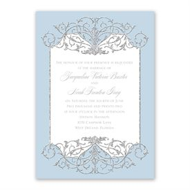 Fairy Tale Sparkle Invitation with Free Response Postcard