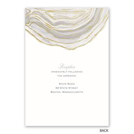 Natural Agate - Invitation with Free Response Postcard
