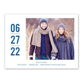 Modern Save The Dates: Vertical Date Save the Date